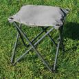 Gray Outdoor Ottoman