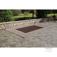 Patio Mat, Polypropylene, Greek Design, 9'x12', Coffee Brown