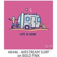 Women's Life Is Good Airstream Surf Crusher Tee, Bold Pink, Large