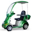 4-Wheel Fully Covered Scooter with Electromagnetic Brakes, Green