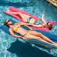 Fab Foam Pool Float, Yellow/Blue Stripe