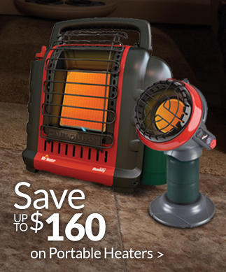 Save up to $160 on Portable Heaters!
