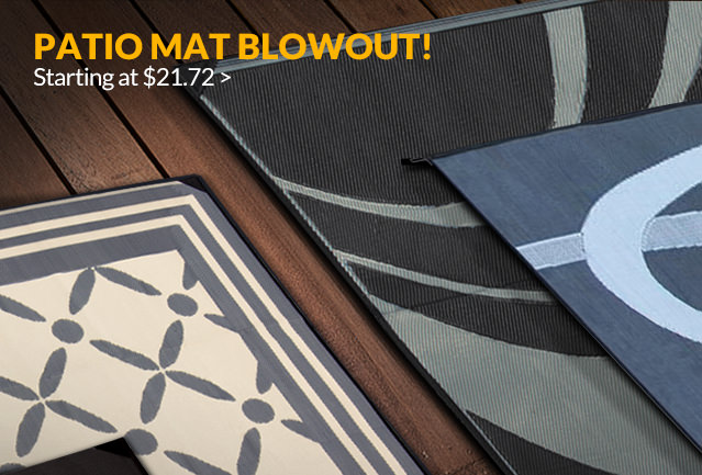 Patio Mat Blowout! Starting at $29.97