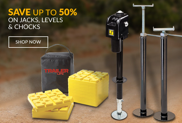 Save up to 50% on Jacks, Levels & Chocks!